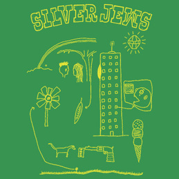 Silver Jews: Cartoon T-Shirt [Green] (SJCT2)