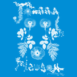 Joanna Newsom: Flowers T-Shirt [Blue] (DC336T1)